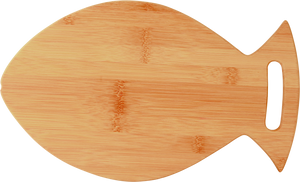 "14"" x 8 1/2"" Bamboo Fish Shaped Cutting Board"