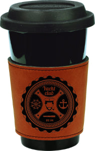 "3"" Rawhide Laserable Leatherette Mug Sleeve"