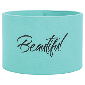 "9 1/2"" x 2"" Teal Laserable Leatherette Cuff Bracelet"