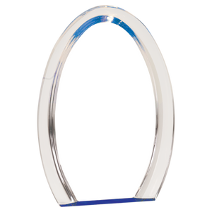 "8"" Blue Oval Halo Acrylic"