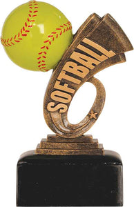 "6"" Softball Headline Resin"