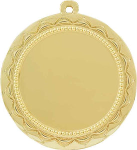 "2 3/4"" Bright Gold Sun 2"" Insert Holder Medal"