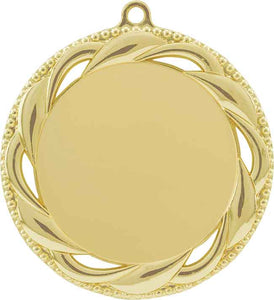 "2 3/4"" Bright Gold Rosette 2"" Insert Holder Medal"