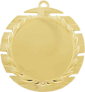 "2 3/4"" Bright Gold Slot Edge 2"" Insert Holder Medal"