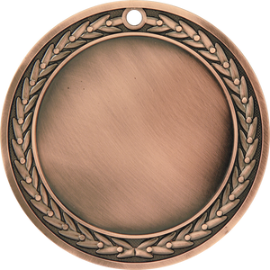 "4"" Antique Bronze 3"" Insert Holder Medal"