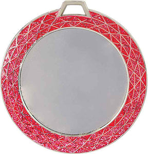 "2 3/4"" Pink Bling 2"" Insert Holder Medal"