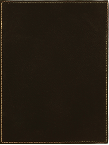 "7"" x 10"" Black/Gold Leatherette Plaque Plate"