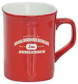 10 oz. Red Ceramic Rounded Corner LazerMug