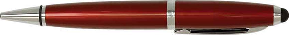 Burgundy with Silver Trim Laserable Pen with Stylus