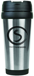 16 oz. Silver Laserable Stainless Steel Travel Mug without Handle