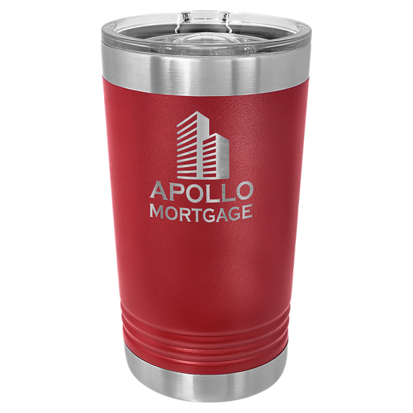 Maroon 16 oz. Polar Camel Pint with Slider Lid