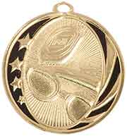 "2"" Bright Gold Swimming Laserable MidNite Star Medal"