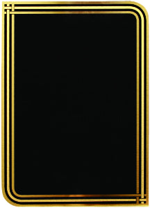 "5"" x 7"" Black/Gold Plated Steel Infinity Plaque Plate"