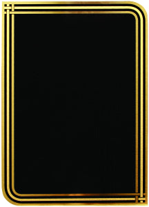 "6"" x 8"" Black/Gold Plated Steel Infinity Plaque Plate"