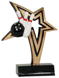 "7"" Bowling Infinity Star Resin"