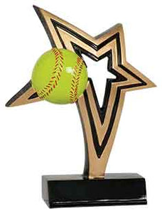 "7"" Softball Infinity Star Resin"