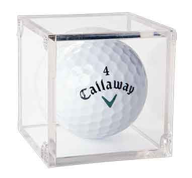Clear Golf Ball BallQube Display Case