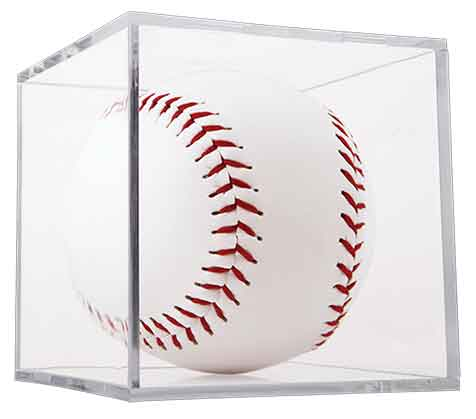 Clear Softball BallQube Display Case