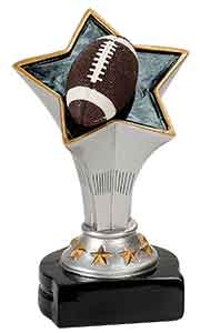 "5 3/4"" Football Rising Star Resin"