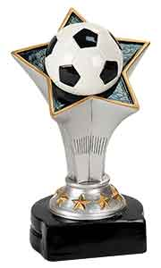 "5 3/4"" Soccer Rising Star Resin"