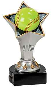 "5 3/4"" Softball Rising Star Resin"