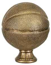 "5 1/2"" Antique Gold Basketball Resin"