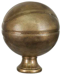 "11 1/2"" Antique Gold Basketball Resin"