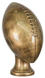 "11"" Antique Gold Football Resin"