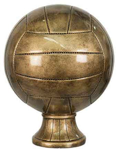 "10 1/2"" Antique Gold Volleyball Resin"