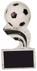 "5"" Black Soccer Splash Sculpted Ice Award"