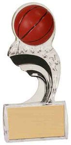 "6 1/2"" Black Basketball Splash Sculpted Ice Award"