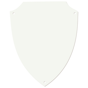 "6"" x 7 5/8"" White DynaSub Shield Plaque Plate"