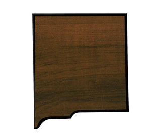 "7"" x 7 3/4"" Walnut Finish Black Edge New Mexico State Plaque"