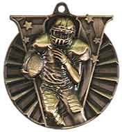 "2"" Antique Gold Football Victory Medal"