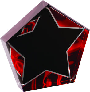 "6"" Star Red Velvet Acrylic"