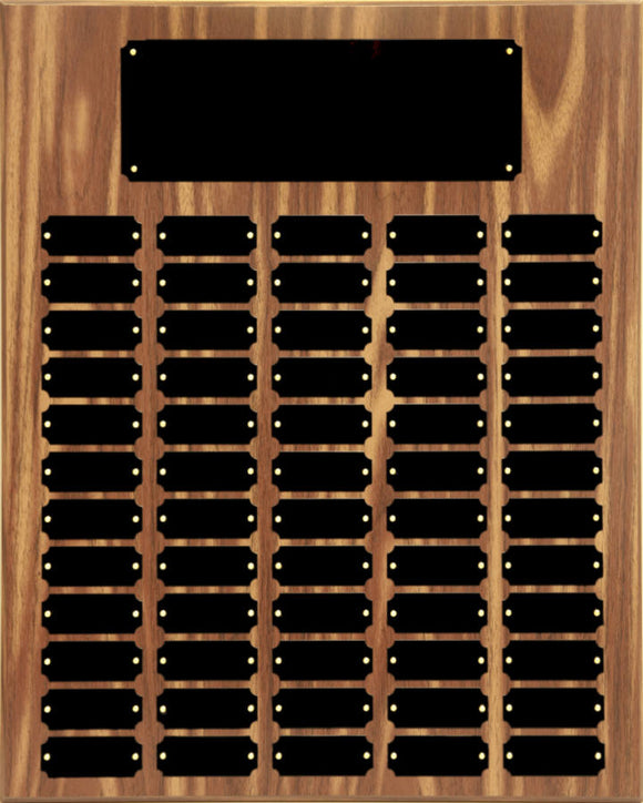 60 Black Plate Walnut Finish Completed Perpetual Plaque