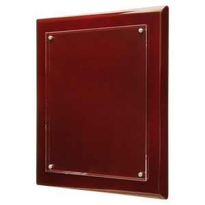 "8"" x 10"" Rosewood Finish High Gloss Floating Acrylic Plaque"