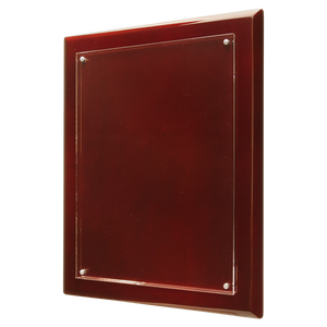 "9"" x 12"" Rosewood Finish High Gloss Floating Acrylic Plaque"