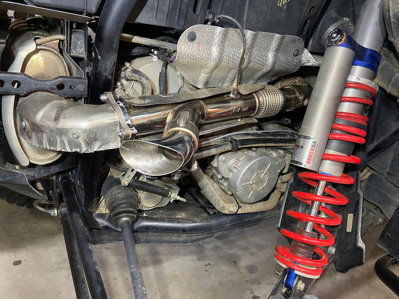"RPM-SxS RZR XPT & Turbo Pro 2.5"" Electric Side Dump E-Valve Exhaust"