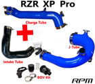RPM-SxS Polaris RZR PRO XP Turbo Silicone Intake J-Tube, Charge Tube, & Intake Tube KIT!