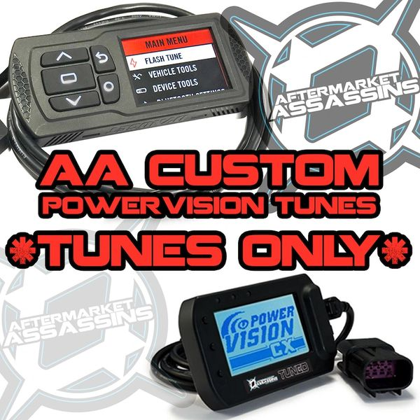 AA CUSTOM POWERVISION TUNES FOR 2015 UP RZR 900 S, TRAIL, XC