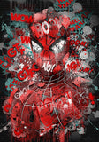Spider Man Classic Pose Graffiti