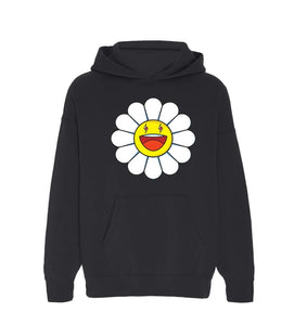 J. Balvin by Takashi Murakami Blanco Large Flower Hoodie Black