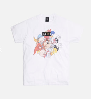 KITH X LOONEY TUNES MERRIE MELODIES VINTAGE TEE - WHITE