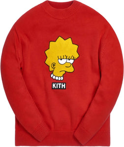 KITH X The Simpsons Lisa Intarsia Sweater Red