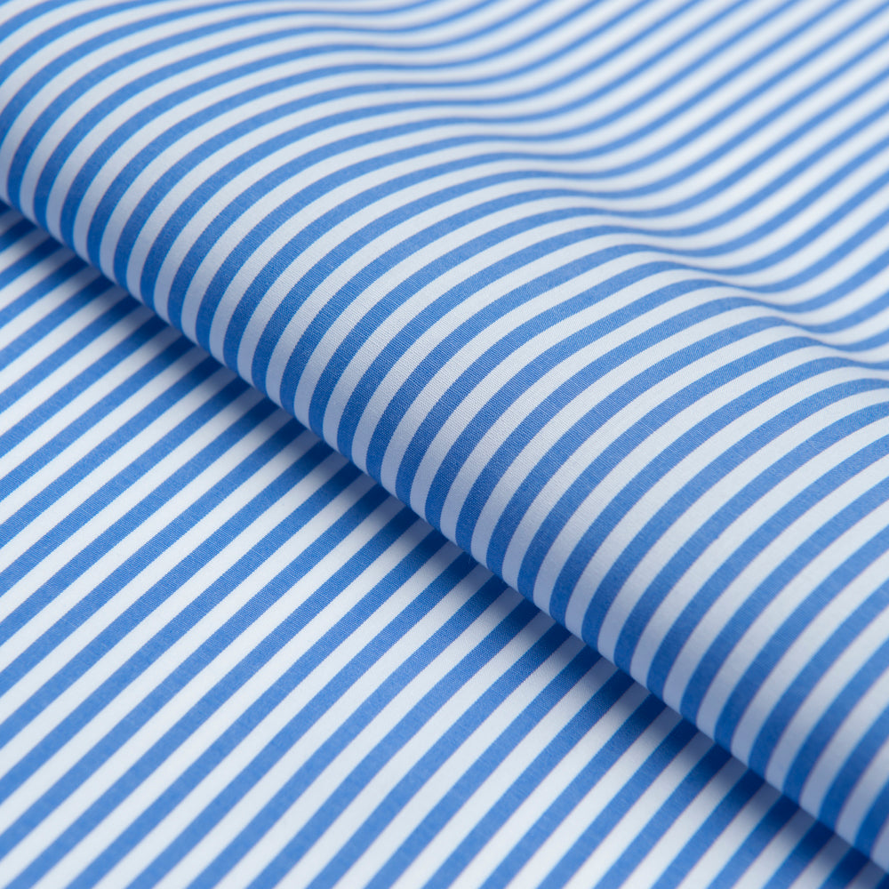 Luxury Blue White Stripe Fabric