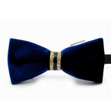 Royal Blue Velvet Bow Tie