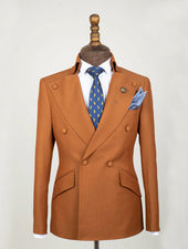 Marigold Stand Collar Suit