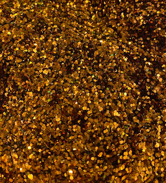 Golden Penny Hexagon Glitter