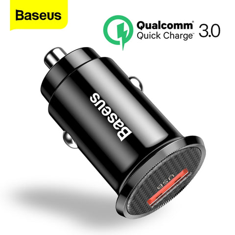 Baseus QC3.0 Single USB Mini Car Charger 18W